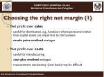 choosing the right net margin 1
