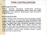 thin capitalization