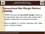 transactional net margin method tnmm