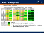 hotel coverage tests