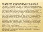 congress and the revolving door