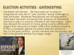 election activities gatekeeping