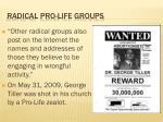 radical pro life groups