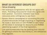 what do interest groups do1