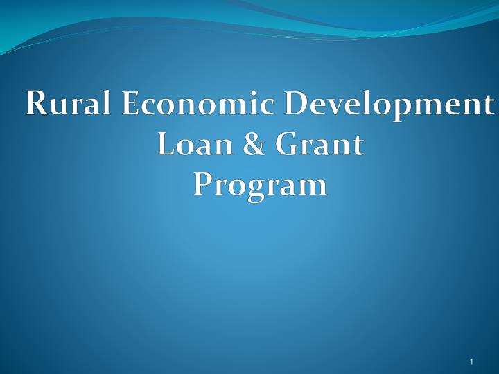 r ural economic development loan grant program n.