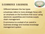 e commerce e business