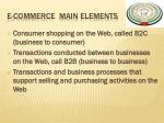 e commerce main elements