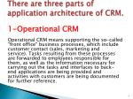 there are three parts of application architecture of crm