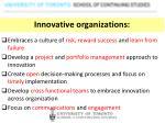 innovative organizations