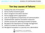 ten key causes of failure