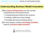 understanding b usiness model innovation