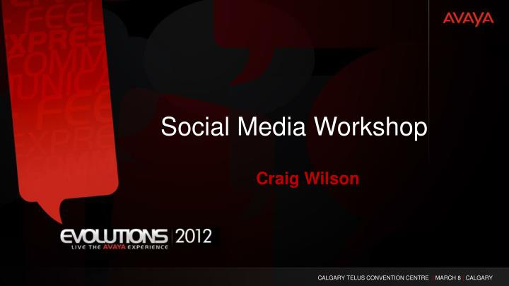 social media workshop n.