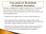 college of business academic advising