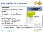 energy advice service for companies