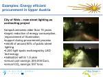 examples energy efficient procurement in upper austria