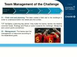 team management of the challenge