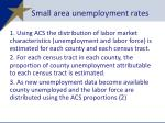 small area unemployment rates