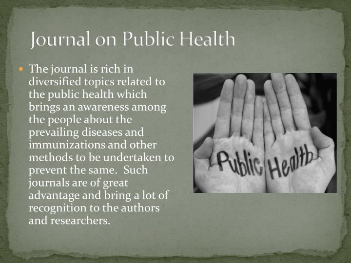 Journal on Public Health