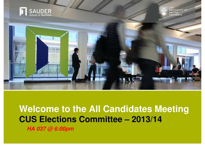 welcome to the all candidates meeting n.