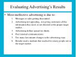 evaluating advertising s results