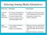 selecting among media alternatives1