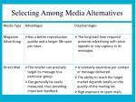 selecting among media alternatives2