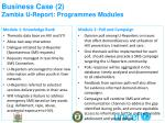 business case 2 zambia u report programmes modules