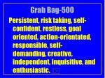 grab bag 500