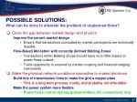 possible solutions what can be done to alleviate the problem of unplanned flows