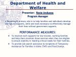 department of health and welfare