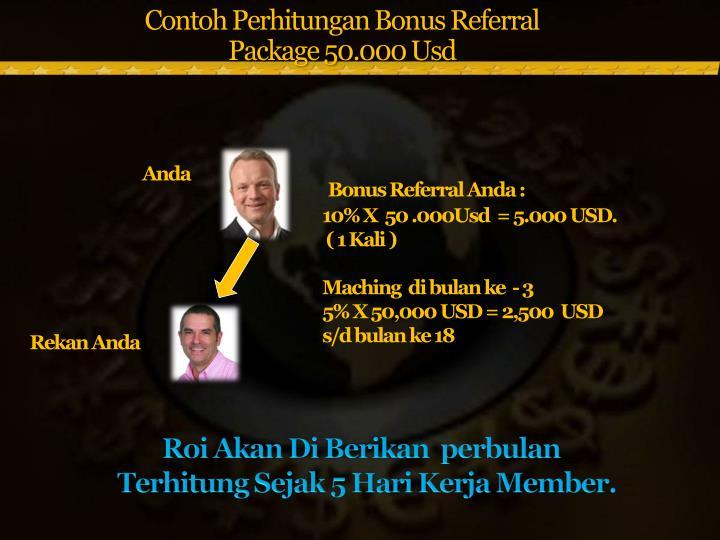 Contoh Perhitungan Bonus Referral