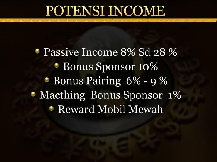 POTENSI INCOME