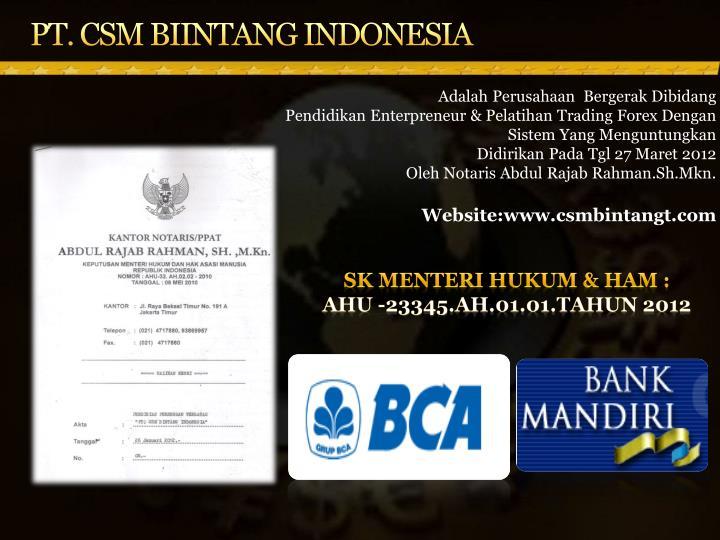 PT. CSM BIINTANG INDONESIA