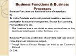 business functions business processes
