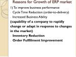 reasons for growth of erp market