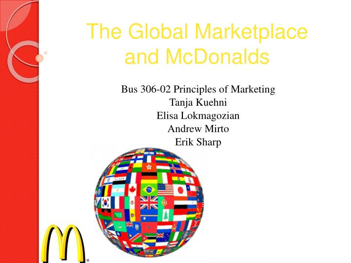 the global marketplace and mcdonalds n.