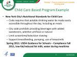 child care based program example