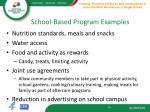 school based program examples