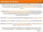 a bit about marketing