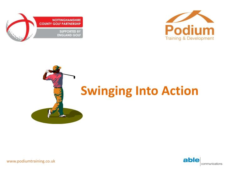 swinging into action n.
