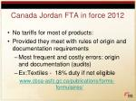 canada jordan fta in force 2012