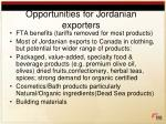 opportunities for jordanian exporters