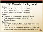 tfo canada background