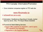 tfo canada information promotion