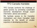 tfo canada mandate