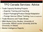 tfo canada services advice
