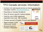 tfo canada services information