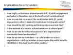 implications for arts funders