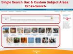 single search box custom subject areas cross search