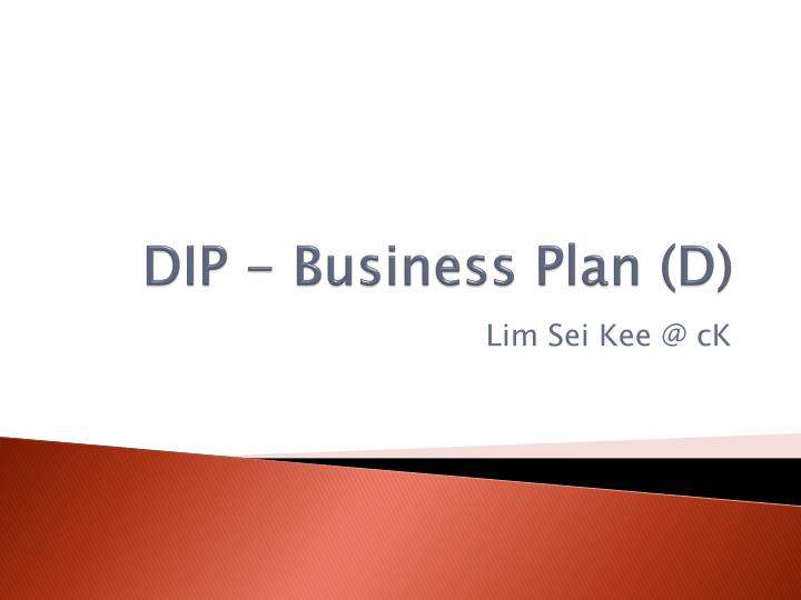 dip business plan d n.
